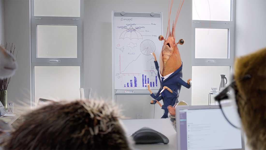 Slack Animals Smith & Foulkes office working sloth