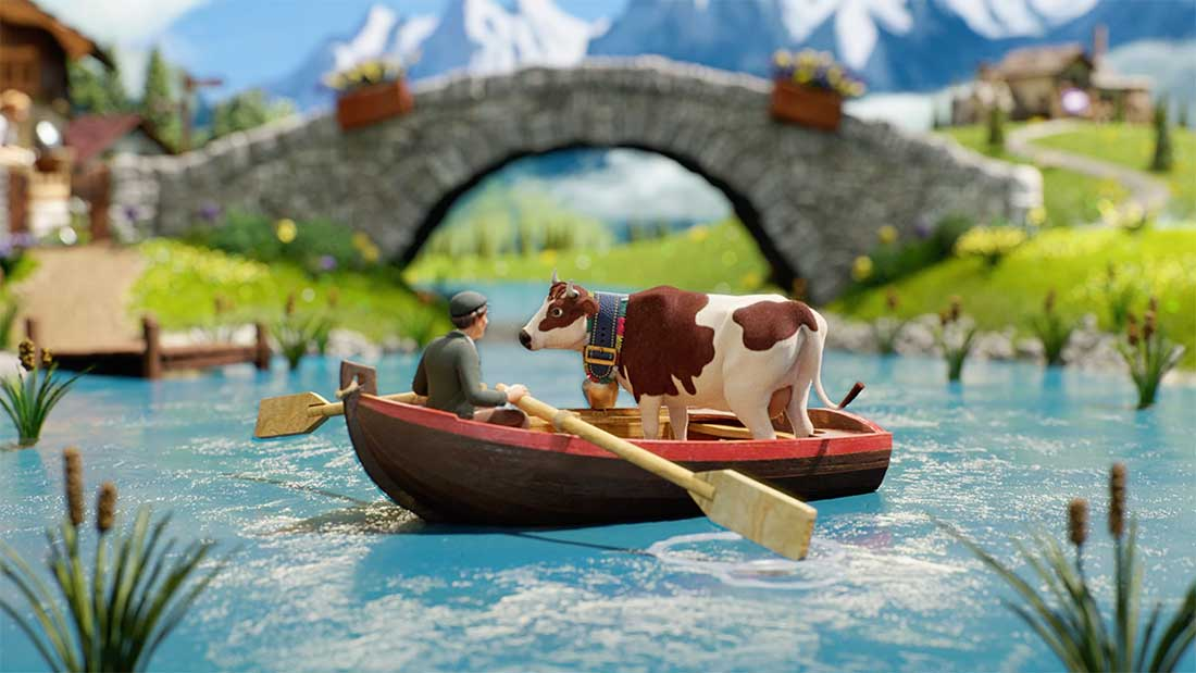 Milka Goodness Sam Southward stop motion animation cows