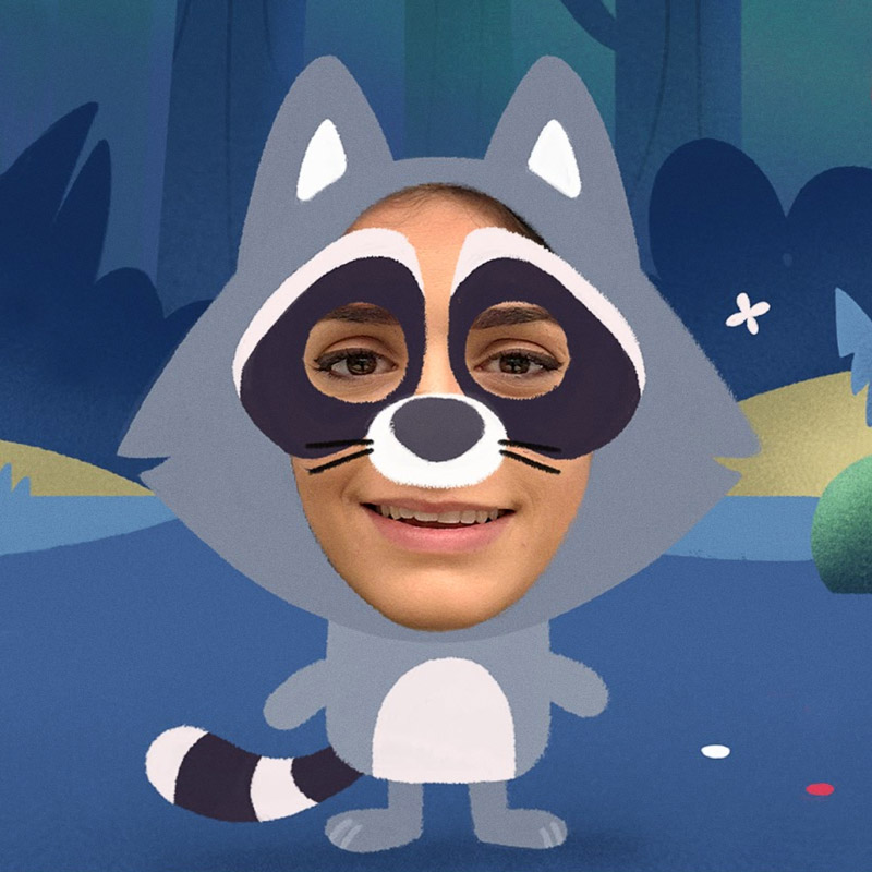 Nexus Studios Portal Storytime Raccoon AR Mask